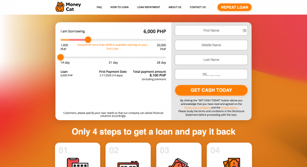 MoneyCat - Loans up to ₱20 000