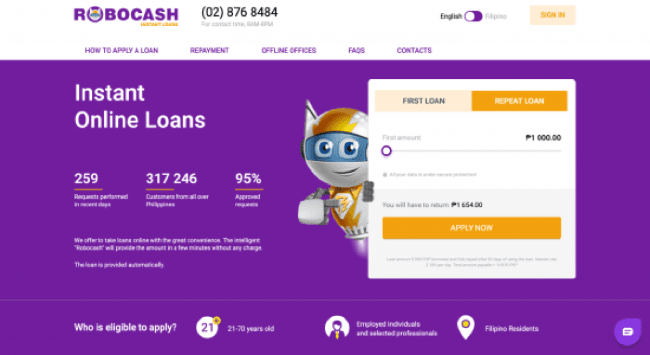 Robocash - Loans up to ₱25 000
