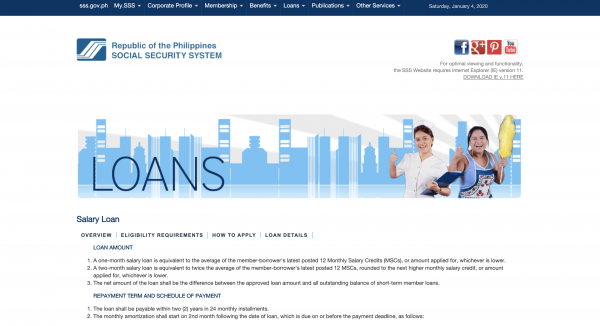 Social Security System Loans
